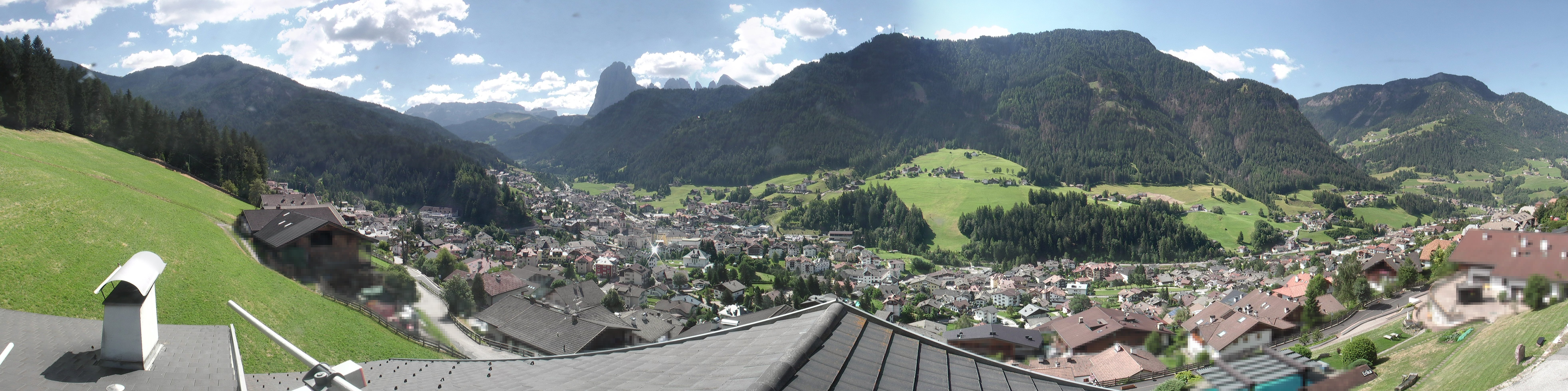 Webcam panoramica su Ortisei - Val Gardena - Dolomiti Superski